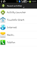 Screenshot of Activity Launcher