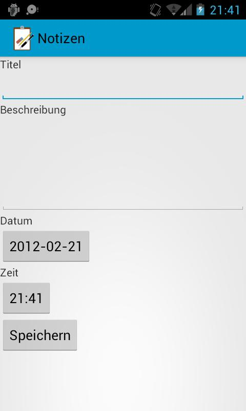 Notizen - screenshot