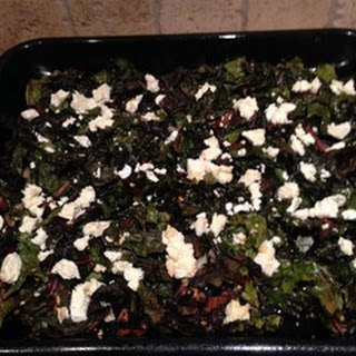 Roasted Swiss Chard with Feta.