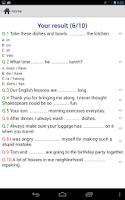 Screenshot of English Grammar Practice Test