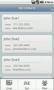 Email Contacts - screenshot thumbnail