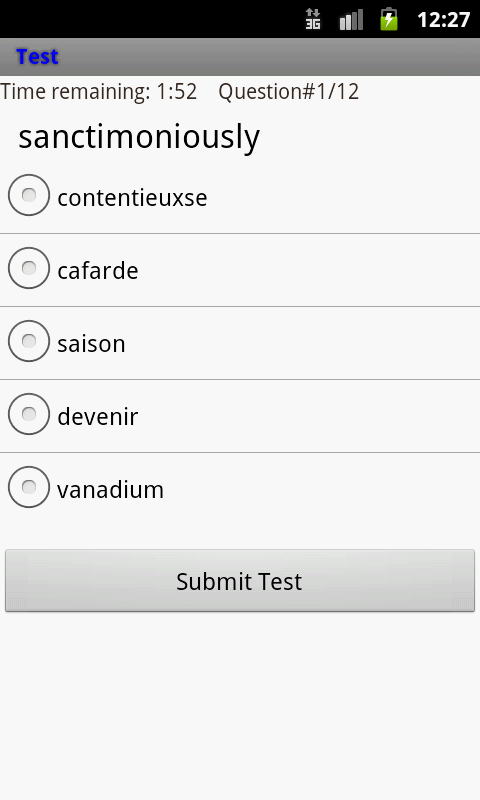 English to French Wordlist- screenshot