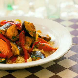 Spicy Vegetable Tagine with Couscous.