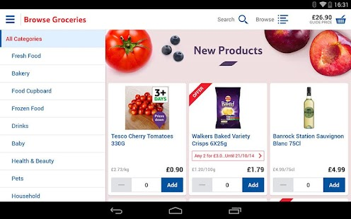 Tesco Groceries - screenshot thumbnail