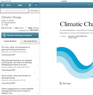 Climatic Change- screenshot thumbnail