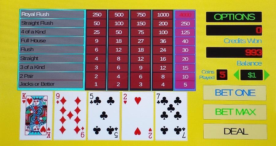 Video poker 9 6 jacks or better