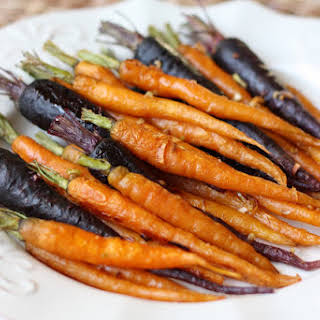 Roasted Carrots with Garlic and Onion.