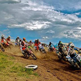Brush Pro Am by Zachary Zygowicz - Sports & Fitness Motorsports ( motocross, start, holeshot, racing, dirtbike )