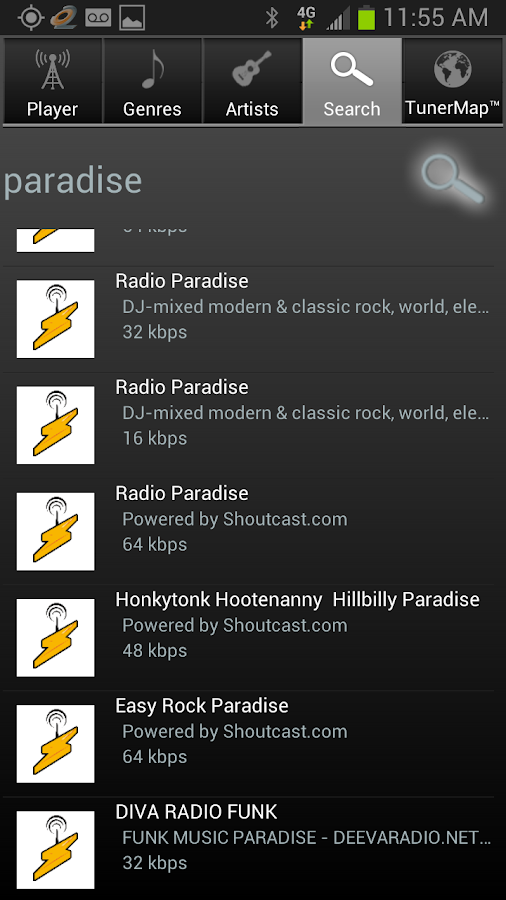 Tuner2 Internet Radio - screenshot