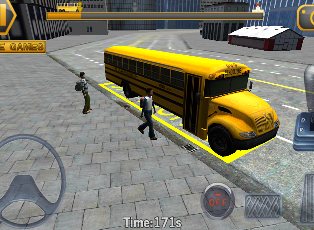 Schoolbus Volant Simulateur 3d Applications Android Sur