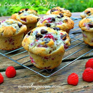Raspberry Chocolate Chip Muffins.