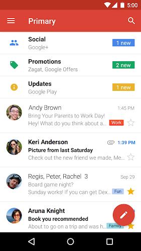 Gmail Android App Screenshot