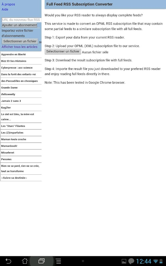 Full Feed Super RSS Reader - screenshot