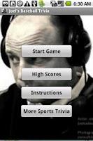 Screenshot of Joel's Baseball Trivia