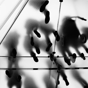 Feet by VAM Photography - Black & White Street & Candid ( floor, apple, glass, nyc, people,  )