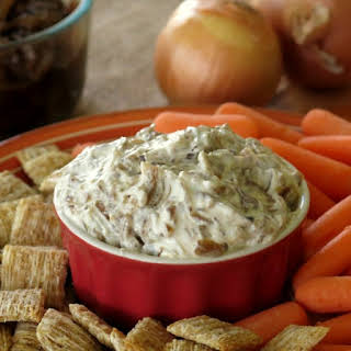 Skinny Caramelized Onion Dip with Greek Yogurt.