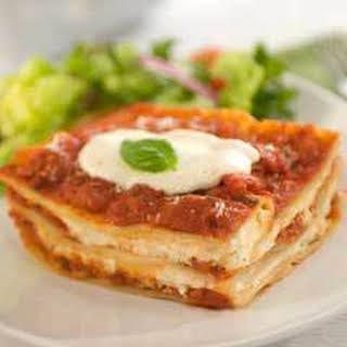 Hearty Bertolli Lasagna.