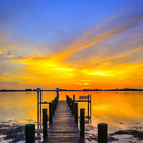 Bradenton sunset by Diane Ljungquist - Novices Only Landscapes (  )