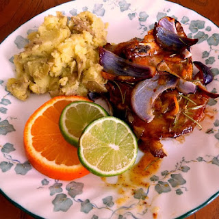 Orange- Mustard Glazed Pork Chops