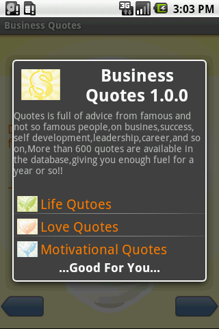 Business Quotes - screenshot