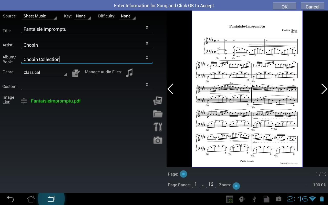 MobileSheets Music Reader- screenshot