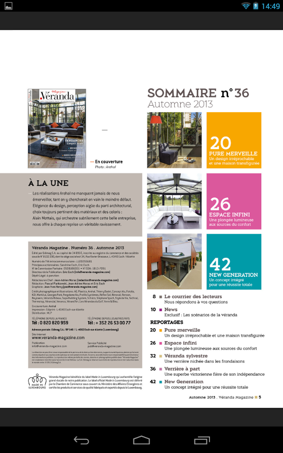 Véranda Magazine- screenshot