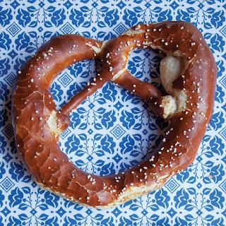 Laugenbrezel (Traditional German Pretzels).