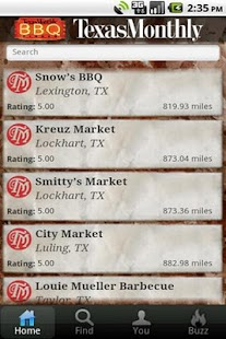Texas Monthly BBQ Finder - screenshot thumbnail