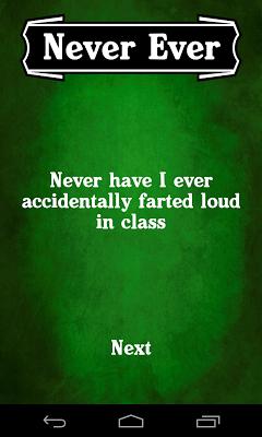 Never ever - screenshot
