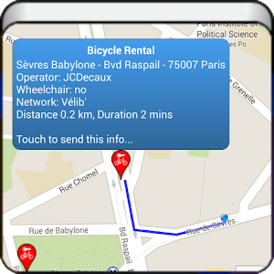 Nearest bicycle rentals android apps on google play for Where is the closest craft store to my location