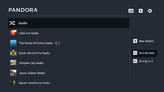 Pandora® Radio for TV screenshot