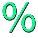 Percentages calculator icon
