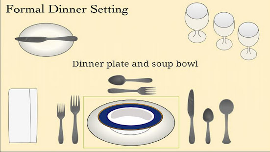 Table setting cheat sheet apps on google play for Fish table cheat app