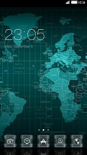 World Map Theme For C Launcher