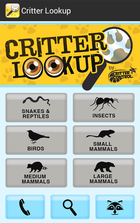 Critter Lookup- screenshot