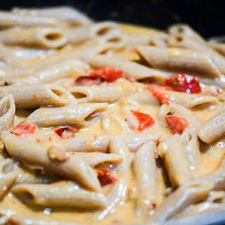 Cheesy Pesto Chicken Pasta.