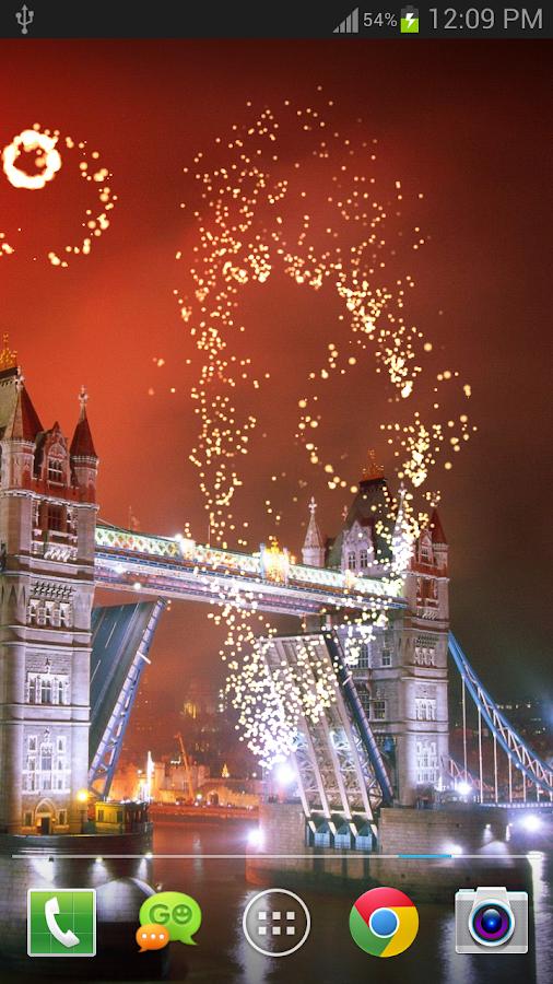 Fireworks Live Wallpaper FREE - screenshot
