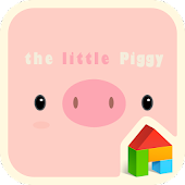 little piggy pink dodol theme