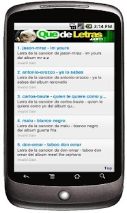 Letras de Canciones Lyrics - screenshot thumbnail