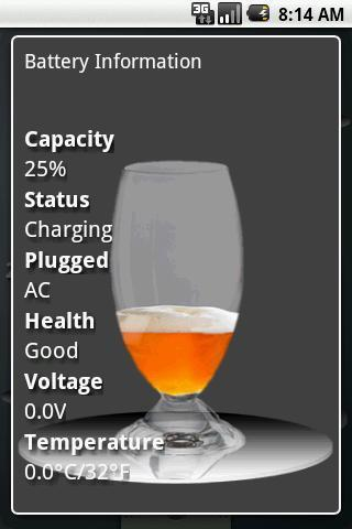 Free Beer Battery Widget - screenshot