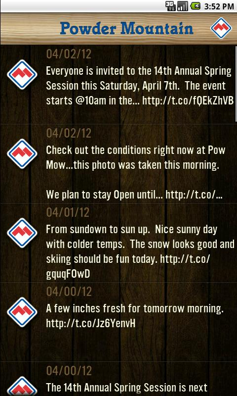Powder Mountain Resort App - screenshot