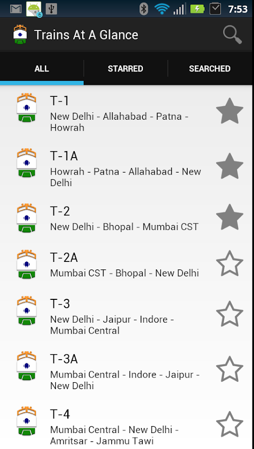 Trains at a Glance- screenshot