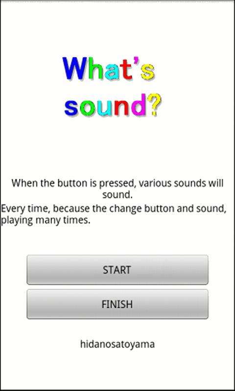 what's sound- screenshot