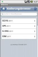 Screenshot of All in One Kodierungsbrowser