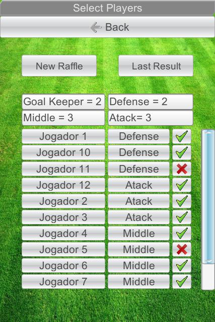 Raffle Teams- screenshot