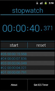 ICS Stopwatch - screenshot thumbnail