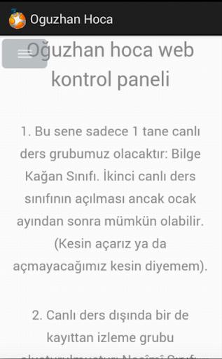 Oğuzhan Hoca Web Panel