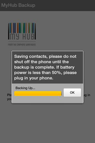 My Hub Mobile Backup - screenshot