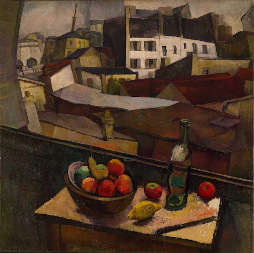 Knife and Fruit in Front of the Window