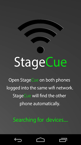 StageCue WIFI Cue Light Phone Screenshot
